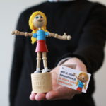 Pippa - Customized wooden puppet